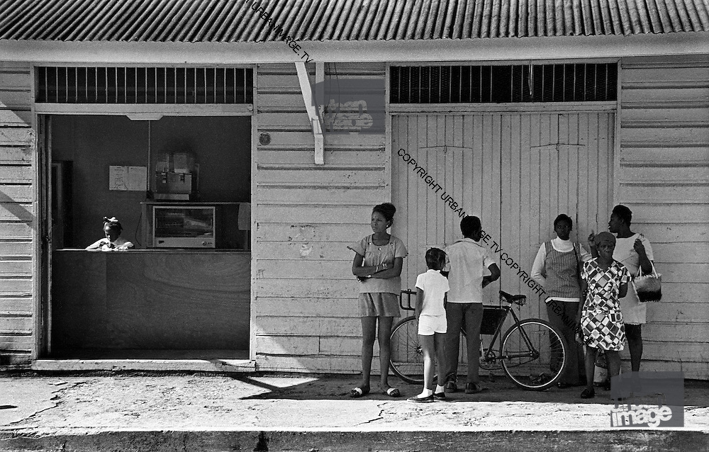 Waiting for the Bus outside Bakery - Port Antonio