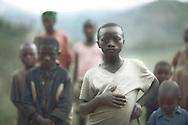 A boy and his relatives, Kirimbi, Rwanda