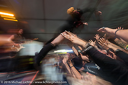 Harley-Davidson Bike Week kick-off at Dirty Harry's with Jasmine Cain rocking the crowd during the Daytona Bike Week 75th Anniversary event. FL, USA. Monday March 7, 2016.  Photography ©2016 Michael Lichter.