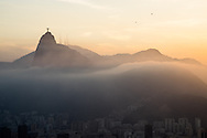 The Cristo Redemtor status looks out over Rio de Janeiro. Scenes from Rio de Janeiro on the day that Brazil drew 0-0 with Mexico. Photo by Andrew Tobin/Tobinators Ltd