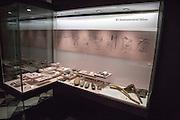 Display of stone age farming implements tools, archaeology museum, Jerez de la Frontera, Cadiz Province, Spain