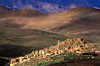 Maroc, Anti Atlas, region de Tafraoute, village de  Souk Khemis des Ida ou Gnidif // Souk Khemis des Ida ou Gnidif, Tafraoute region, Atlas, Morocco1