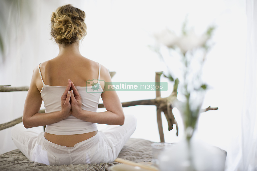 Jul. 09, 2009 - middle-aged woman doing yoga. Model Released (MR) (Credit Image: © Cultura/ZUMAPRESS.com)