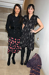 Left to right, LISA MOORISH and PEARL LOWE at a party hosted by O2 to announce their support for grassroots music through the launch of a nationwide music talent search 'O2 Undiscovered' held at The Hospital, Endell Street, London on 8th March 2006.<br />
