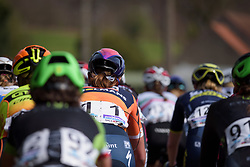 Chantal Blaak in the bunch at Women's Gent Wevelgem 2017. A 145 km road race on March 26th 2017, from Boezinge to Wevelgem, Belgium. (Photo by Sean Robinson/Velofocus)