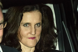 CAPTION CORRECTION © Licensed to London News Pictures. 10/09/2019. London, UK. Environment Secretary Theresa Villiers leaves Parliament after a late sitting in which the government lost a vote to trigger a snap election. Parliament will be now be prorogued, suspended until October 14. Photo credit: Guilhem Baker/LNP