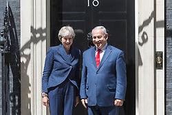 POOL: Israeli Prime Minister Benjamin Nethanyahu meets British Prime Minister Theresa May for bilateral talks at 10 Downing Street in London. June 06 2018.
