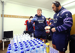 and Sione Faletau of Bristol Rugby arrive at Castle Park for the fixture against Doncaster Knights - Mandatory by-line: Robbie Stephenson/JMP - 13/01/2018 - RUGBY - Castle Park - Doncaster, England - Doncaster Knights v Bristol Rugby - B&I Cup