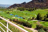 26-07-2016 Foto's persreis Golfers Magazine met Pin High naar Alicante en Valencia in Spanje. <br /> Foto: La Galiana vanaf het terras.