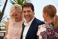 Charlize Theron, Javier Bardem and Adèle Exarchopoulos at the The Last Face film photo call at the 69th Cannes Film Festival Friday 20th May 2016, Cannes, France. Photography: Doreen Kennedy