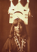 NATIVE AMERICANS E. Curtis photograph, early 20th century, 'Tablita Woman Dancer' 1905 San Ildefonso Pueblo, New Mexico