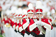 Sep 10, 2011; Little Rock, AR, USA; The Arkansas Razorback marching band takes the field before the start of a game against the New Mexico Lobos at War Memorial Stadium. The Razorbacks beat the Lobos 52-3. Mandatory Credit: Beth Hall-US PRESSWIRE
