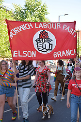 Norwich Pride, 28 July 2018 UK - Norwich Labour Party, Nelson Branch, banner