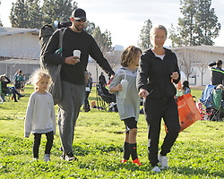 Kendra Wilkinson and Hank Baskett looked sad and subdued at son Hank Jr's soccer game in Los Angeles. The two spent little time together during the game after reports that they were getting divorced. Neither of them were wearing their wedding rings. ***SPECIAL INSTRUCTIONS*** Please pixelate children's faces before publication.***. 25 Mar 2018 Pictured: Hank Baskett, Kendra Wilkinson. Photo credit: Leah / MEGA TheMegaAgency.com +1 888 505 6342