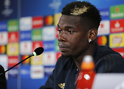 November 6, 2018 - Turin, Italy - Paul Pogba during Champions League press conference before the match  between Juventus v Manchester United, in Turin, on November 6, 2018. (Credit Image: © Loris Roselli/NurPhoto via ZUMA Press)