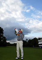 Photograph: Scott Heavey<br />Volvo PGA Championship At Wentworth Club. 25/05/2003.<br />Ignacio Garrido lifts the cup.