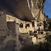 Spectacular Cliff Palace, largest of all ancient dwellings in Mesa Verde National Park, CO.
