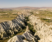 View over Love Valley near Goreme, in Cappadocia.