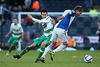 Morten Gamst Pedersen of Blackburn Rovers out turns fellow Norwegian QPR's Petter Vaagan Moen at Ewood Park<br /> --------------------<br /> I<br /> FA Cup - 3rd Round<br /> Blackburn Rovers v QPR<br /> 08 January 2011<br /> <br /> Norway only<br /> Queens Park Rangers