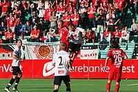 Tippeliga Fotball 20.Mai 2014. Eliteserie. Foto Christian Blom Digitalsport Sogndal - Brann. Azar Karadas, Taijo Teniste, Ulrik Flo Sogndal. Kristoffer Barmen, Kasper Skaanes Brann.