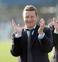 Photo: Kevin Poolman.<br />Wycombe Wanderers v Hartlepool United. Coca Cola League 2. 14/04/2007. A happy Hartlepool manager Danny Wilson after they get promotion.