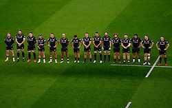 Exeter Chiefs line up ahead of kick off - Mandatory by-line: Phil Mingo/Pool/JMP - 24/10/2020 - RUGBY - Twickenham Stadium - London, England - Exeter Chiefs v Wasps - Gallagher Premiership Rugby Final