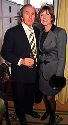 MR & MRS JACKIE STEWART he is the former F1 world racing champion, at a luncheon in London on 8th December 1999.MZW 55