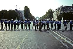 Police Lined Up For Tour De France In Paris