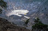 Indonesia, Java, Parompong. Tangkuban Prahu volcano. Kawah Ratu, the largest crater.