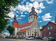 Kościół w miejscowości Wiele na Kaszubach.