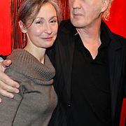 NLD/Laren/20120212 - Opening expositie Herman van Veen bij Lionel gallery Laren, samen met partner
