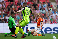 Blackpool's Brad Potts provides the assist for the second goal<br /> <br /> Photographer Craig Mercer/CameraSport<br /> <br /> The EFL Sky Bet League Two Play-Off Final - Blackpool v Exeter City - Sunday May 28th 2017 - Wembley Stadium - London<br /> <br /> World Copyright © 2017 CameraSport. All rights reserved. 43 Linden Ave. Countesthorpe. Leicester. England. LE8 5PG - Tel: +44 (0) 116 277 4147 - admin@camerasport.com - www.camerasport.com
