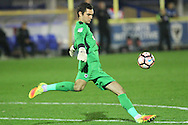 AFC Wimbledon goalkeeper James Shea (1) during the The Emirates FA Cup 1st Round Replay match between AFC Wimbledon and Bury at the Cherry Red Records Stadium, Kingston, England on 15 November 2016. Photo by Stuart Butcher.