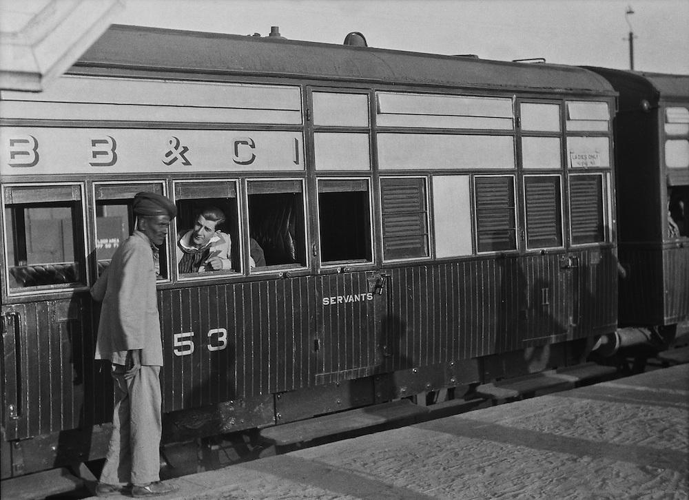Train at Rutlam Railway Station, India, 1929