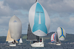 Largs Regatta Festival 2018<br /> <br /> Day 1 - Monkey Business  ( GBR 4788T ) with CYCA Class 3<br /> <br /> Images: Marc Turner
