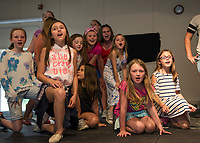 SKYT - Streetcar Kids and Youth Theater holds dress rehearsal for 101 Dalmatians Kids at Gilford Methodist Church Sunday evening.  (Karen Bobotas/for the Laconia Daily Sun)