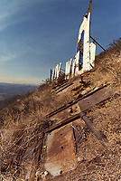 1973 The Hollywood sign in disrepair