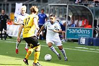 fotball, tippeliga, eliteserien, start, strømsgodset  14.september 2014<br /> Yassine El Ghanassay, Stabæk<br /> Birger Meling, Stabæk<br /> Gudmundur Kristjansson, Start<br /> Foto: Ole Fjalsett