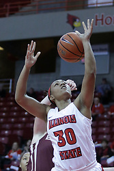 01 November 2017: Amaria Allen during a Exhibition College Women's Basketball game between Illinois State University Redbirds the Red Devils of Eureka College at Redbird Arena in Normal Illinois.