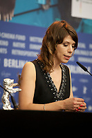 Director Nora Fingscheidt, winner of the Silver Bear Alfred Bauer Prize for a feature film that opens new perspectives for the film System Crasher at the award winners press conference at the 69th Berlinale International Film Festival, on Saturday 16th February 2019, Hotel Grand Hyatt, Berlin, Germany.