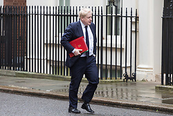 London - Foreign Secretary Boris Johnson attends the weekly meting of the UK cabinet at Downing Street. January 23 2018.