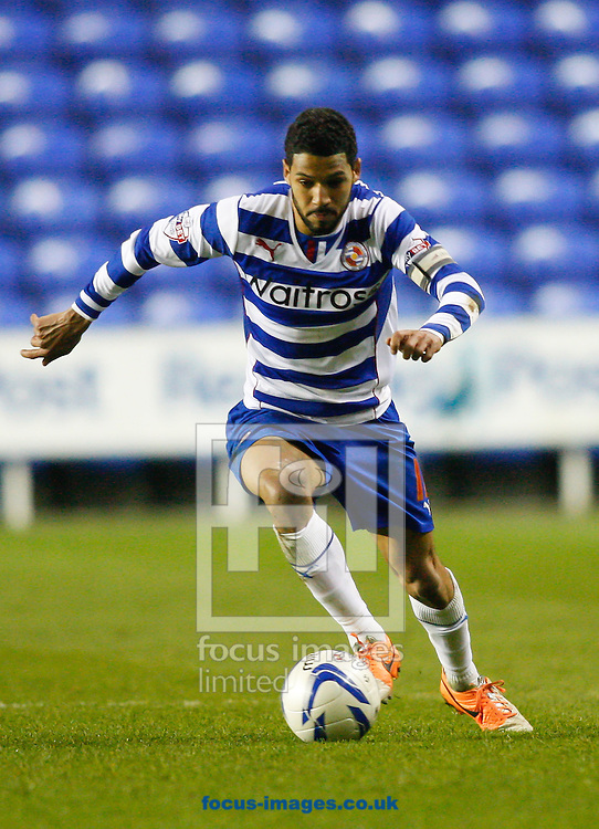 Jobi McAnuff of Reading in action during the Sky Bet Championship match at the Madejski Stadium, Reading<br /> Picture by Andrew Tobin/Focus Images Ltd +44 7710 761829<br /> 22/04/2014