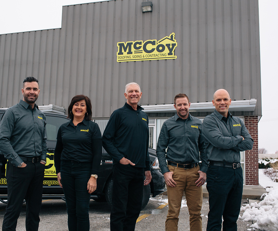 14 January 2019- John and Tracy McCoy and employees are photographed at McCoy Roofing as the face of roofing for FACES 2019.