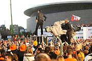 Koninginnedag 2008 - Museumplein Amsterdam STAGE.<br /> <br /> Het grootste Koninginnedag bijeenkmost op het Museumplein in Amsterdam georganiseerd door Radio 538.<br /> <br /> Op de foto:  Kane (  Dinand Woesthoff )