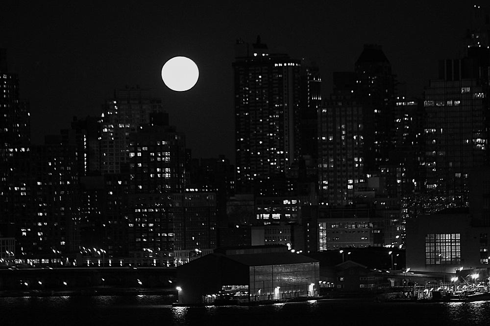 Full moon over nyc. 2011