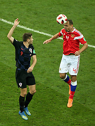 July 7, 2018 - Sochi, Russia - July 07, 2018, Sochi, FIFA World Cup 2018, the playoff round. 1/4 finals of the World Cup. Football match Russia - Croatia at the stadium Fisht. Player of the national team Sergey Ignashevich  (Credit Image: © Russian Look via ZUMA Wire)