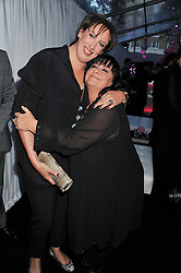 Left to right, MIRANDA HART and DAWN FRENCH at the Glamour Women of The Year Awards 2011 held in Berkeley Square, London W1 on 7th June 2011.