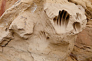 Hand print at the White Mountain Archeological Site in the Red Desert of Wyoming