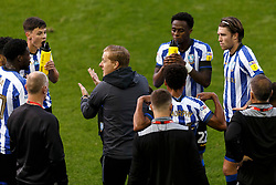 Sheffield Wednesday Manager Garry Monk gives a team talk during the drinks break - Mandatory by-line: Daniel Chesterton/JMP - 24/06/2020 - FOOTBALL - Hillsborough - Sheffield, England - Sheffield Wednesday v Huddersfield Town - Sky Bet Championship