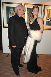 Actress CAMILLA RUTHERFORD wearing £10 million worth of Graff Diamonds and artist ALAN HALLIDAY at an exhibition of artist Alan Halliday's work in support of the English National Ballet held at the Intercontinental Hotel, Park Lane, London on 9th March 2007.<br /><br />NON EXCLUSIVE - WORLD RIGHTS